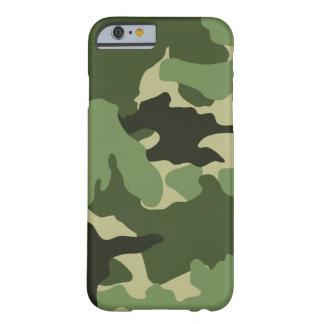 Los militares verdes de Camo camuflan iPhone Funda De iPhone 6 Barely There
