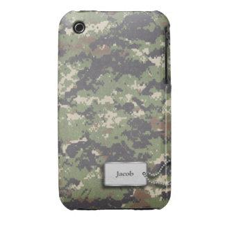 Los militares verdes digitales de Camo del iPhone 3 Funda