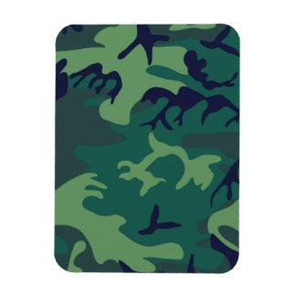 Los militares verdes frescos camuflan diseño iman flexible