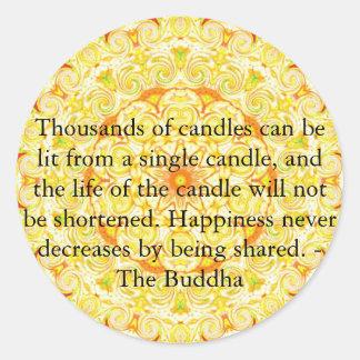 Los millares de velas se pueden encender de un pegatina redonda