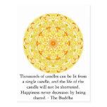 Los millares de velas se pueden encender de un sol tarjetas postales