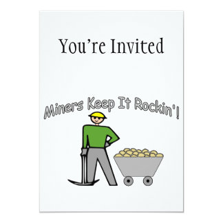 """Los mineros lo guardan Rockin Invitación 5"""" X 7"""""""