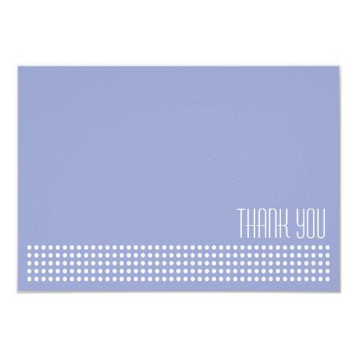 Los mini lunares le agradecen observar (púrpura/el invitación 8,9 x 12,7 cm