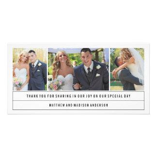 Los | mínimos que se casan le agradecen tarjeta de tarjetas fotográficas