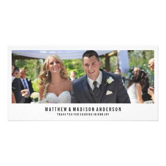 Los | mínimos que se casan le agradecen tarjeta de tarjetas fotograficas