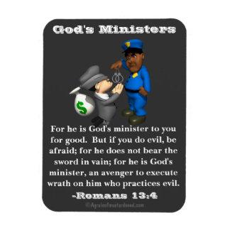 Los ministros policía y ladrón de dios imán