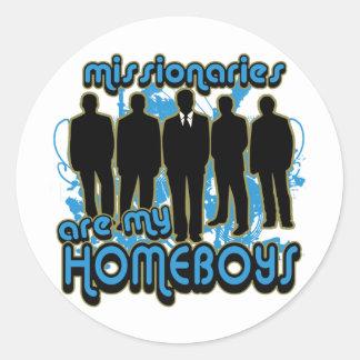 Los misionarios son mis Homeboys Etiquetas Redondas