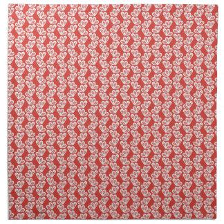 los modelos blancos rojos del diseño floral del servilletas imprimidas