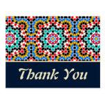 Los modelos geométricos islámicos le agradecen pos tarjeta postal