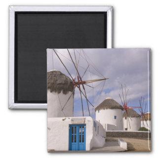 Los molinoes de viento de Mykonos en las islas gri Iman De Nevera