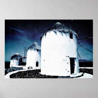 Los molinoes de viento de Mykonos - poster