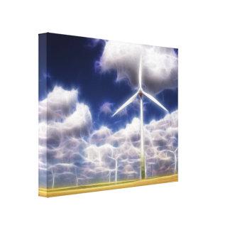 Los molinoes de viento surrealistas de Turbo Impresión De Lienzo