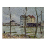 Los molinos en el Moret-sur-Loing, invierno, 1890 Postal