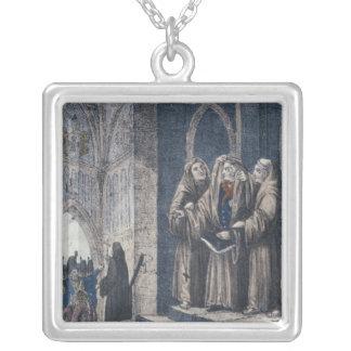 Los monjes que cubren al rey con cubren el convent colgante cuadrado