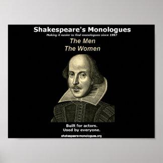 Los monólogos poster de Shakespeare, negro