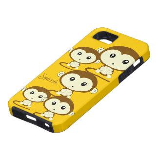 Los monos coloridos lindos cambian amarillo a cual iPhone 5 Case-Mate funda