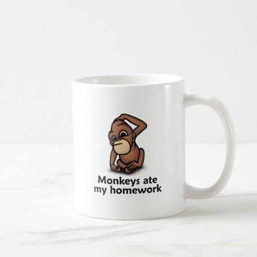 Los monos comieron mi preparación tazas de café