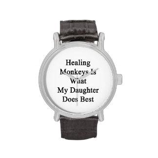 Los monos curativos son lo que hace mi hija mejor relojes de mano