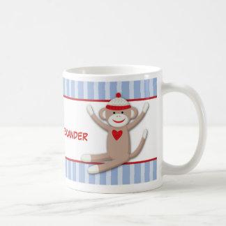 Los monos del calcetín personalizaron la taza de c