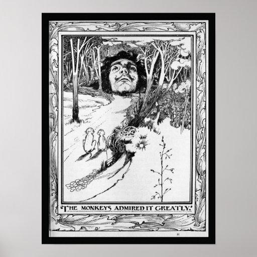 Los monos lo admiraron grandemente posters