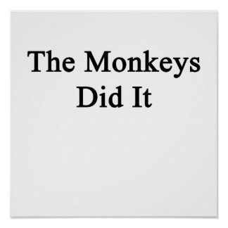 Los monos lo hicieron póster