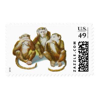 Los monos no ven ningún mal no oír ningún mal no envio