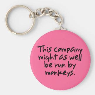 Los monos podían hacer un mejor trabajo en esta co llavero redondo tipo pin