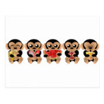 Los monos que gustan los frutos tarjeta postal