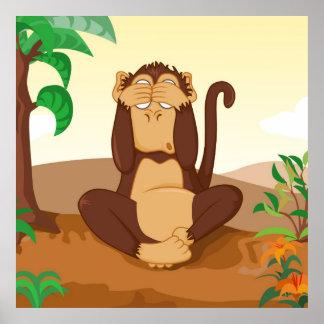Los monos sabios 2/3 que ven póster