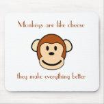Los monos son como el queso alfombrillas de ratón