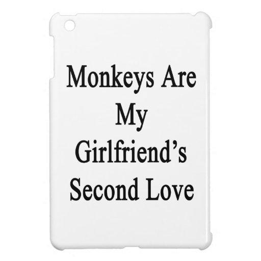 Los monos son el amor de mi novia en segundo lugar iPad mini carcasa