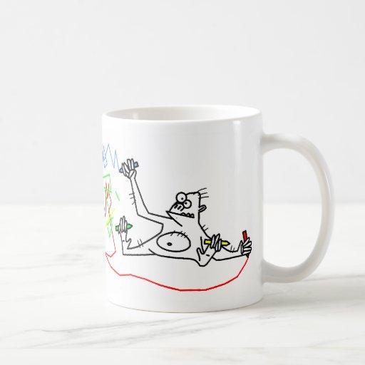 Los monos son frescos tazas de café