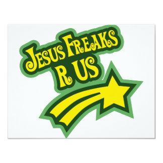 """Los monstruos de Jesús son nosotros Invitación 4.25"""" X 5.5"""""""