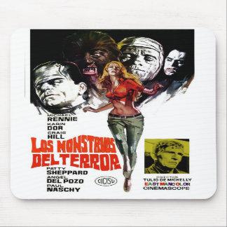 """""""Los Monstruos Del Terror"""" Mousepad Tapetes De Ratones"""