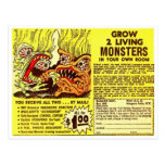 Los monstruos retros del kitsch del vintage 'crece tarjeta postal