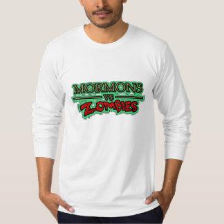 Los mormones de los hombres contra camiseta de playera