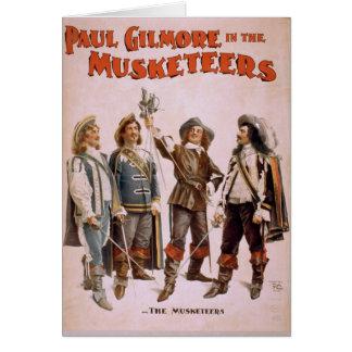 """Los mosqueteros, teatro retro de """"Paul Gilmore"""" Tarjeta De Felicitación"""