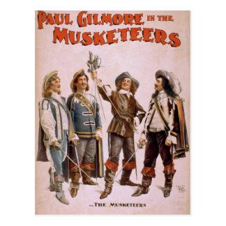 """Los mosqueteros, teatro retro de """"Paul Gilmore"""" Tarjetas Postales"""