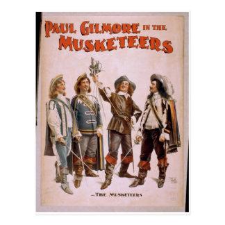 """Los mosqueteros, teatro retro de """"Paul Gilmore"""" Postales"""