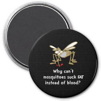 Los mosquitos chupan imán redondo 7 cm