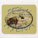 Los mousepads del safari de la fauna del Hyena de  Tapetes De Raton