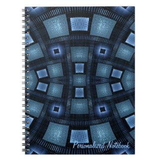Los movimientos del azul personalizaron el libro de apuntes con espiral