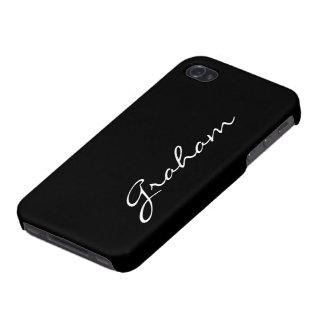 Los muchachos de encargo nombran la letra inicial  iPhone 4 carcasas