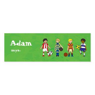 Los muchachos del fútbol del fútbol van de fiesta  tarjetas de visita