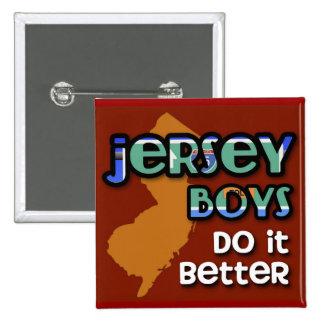 Los muchachos del jersey mejora pin cuadrado