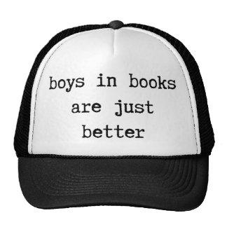 Los muchachos en libros son apenas un mejor gorra