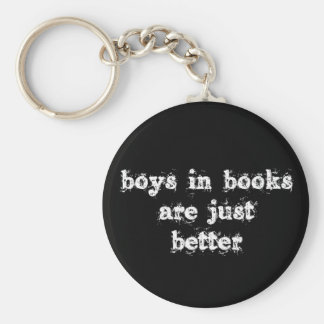 Los muchachos en libros son apenas un mejor llavero redondo tipo pin