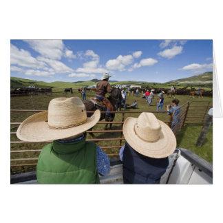 Los muchachos jovenes admiten el rancho 2007 de Hu Tarjeta De Felicitación