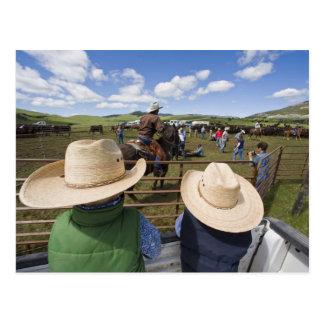 Los muchachos jovenes admiten el rancho 2007 de postal
