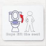 Los muchachos levantan Seat - entrenamiento/humor  Tapetes De Raton
